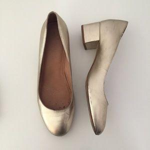 Madewell Ella metallic pumps heel shoes